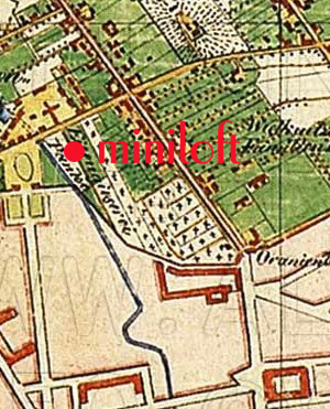 Hotel location in 1836 :: Just outside the city wall